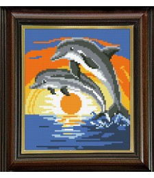 Делфини в залез 1:4