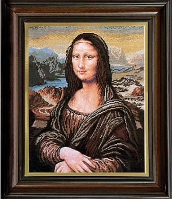 Mona Liza- tapestry embroidery