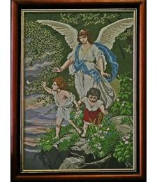 Ангел пазител 1:4 / с детайл/- гоблен за бродиране